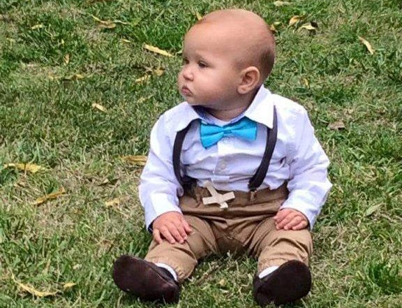 Sonny Dean Hague attending his auntys wedding