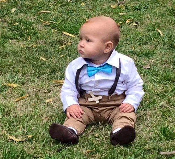 Sonny Dean Hague attending his auntys wedding